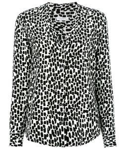 Equipment | Geometric Print Shirt Womens Size Medium Silk