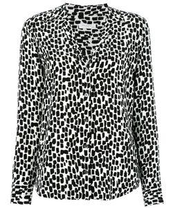 Equipment | Geometric Print Shirt Womens Size Xs Silk