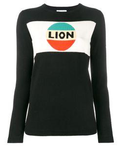 Bella Freud   Lion Stripe Intarsia Jumper Womens Size Medium Wool