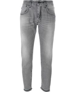 +People | Stonewashed Cropped Jeans