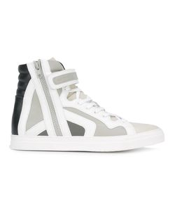 Pierre Hardy | Panelled Hi-Tops Mens Size 40 Rubber/Leather/Calf Leather