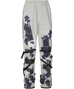 James Long | Lace Appliqué Buckled Track Pants