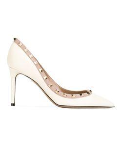 Valentino | Garavani Rockstud Pumps Womens Size 37.5 Calf Leather/Leather/Metal