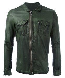 Giorgio Brato   Chest Pocket Jacket Mens Size 50 Leather/Nylon/Cotton