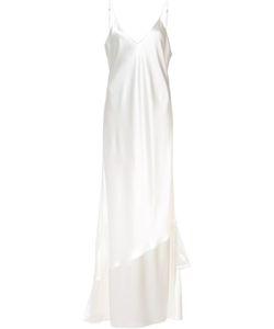 Ryan Roche | Ruffled Detail Gown Womens Size 4 Silk