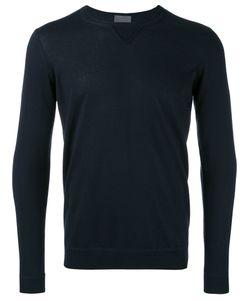 Laneus | Ribbed Trim Jumper Mens Size 52 Silk/Cashmere