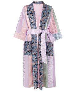 Natasha Zinko   Printed Panel Robe Womens Size 36 Polyester/Acetate/Polyimide/Polyester