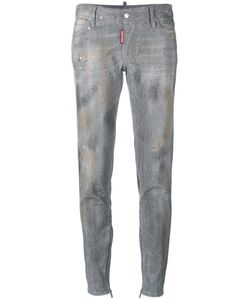 DSquared² | Skinny Studded Jeans Womens Size 44 Cotton/Spandex/Elastane/Polyester/Calf Leather