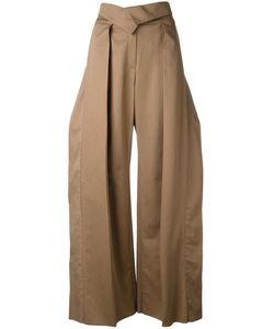 Preen by Thornton Bregazzi | Pleated Detail Palazzo Trousers Womens Size Xs