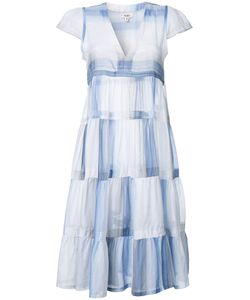 Lemlem   Pleated Trim Fla Dress Womens Size Large Cotton