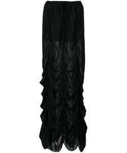 Vera Wang | Long Draped Skirt Womens Size 4 Silk