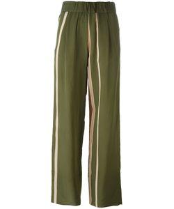 Roberto Collina | Striped Trousers Womens Size Large Nylon/Acetate