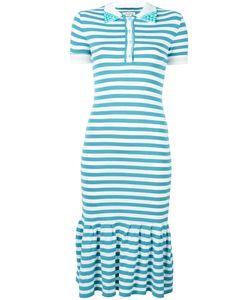 Natasha Zinko   Striped Polo Dress Womens Size Small Polyester/Viscose