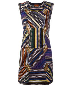 Missoni | Knitted Patchwork Mini Dress Womens Size 42 Viscose/Polyester/Polyamide/Cupro