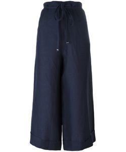 Daniela Gregis | Super Wide Cropped Trousers Womens Linen/Flax