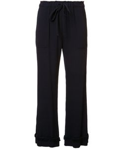 Raquel Allegra | Frill Detail Cropped Trousers Womens Size 3 Rayon