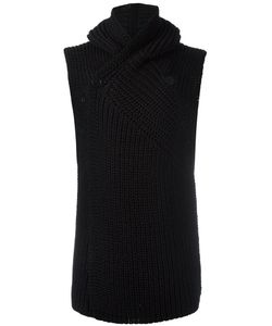Rick Owens | Sleeveless Hooded Cardigan Mens Size Medium Cotton