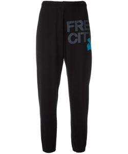 Freecity | Logo Print Sweatpants Womens Size Medium Cotton