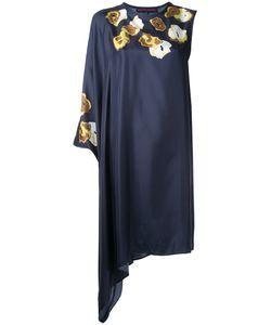 Martin Grant | Print Asymmetric Dress Womens Size 36 Silk