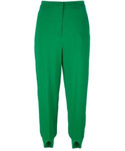 Twin-Set | Slit Cuffs Cropped Trousers Womens Size 40 Viscose/Spandex/Elastane