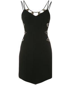 David Koma | Metal Neckline Dress Womens Size 8 Viscose/Acetate/Spandex/Elastane
