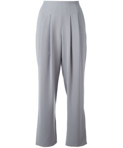 Armani Collezioni | Pleated Cropped Trousers Womens Size 44 Polyester