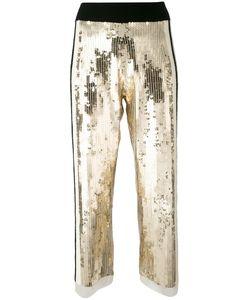 Aviù | Sequins Detail Cropped Pants Womens Size 44 Polyamide/Cotton/Rubber