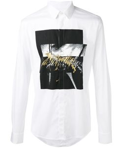Les Hommes | Printed Shirt Mens Size 52 Cotton/Spandex/Elastane