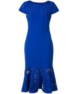 Marchesa Notte | Peplum Hem Dress Womens Size 16 Polyester