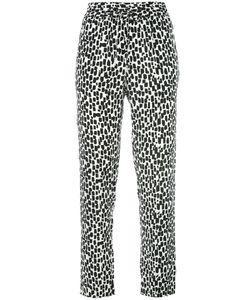 Equipment | Geometric Print Slim-Fit Trousers Womens Size Medium Silk