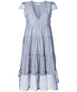 Lemlem   Pleated Detail Dress Womens Size Medium Silk/Cotton