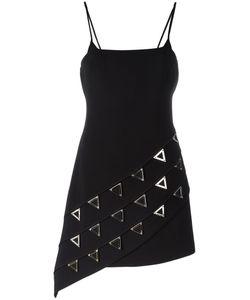 David Koma | Studded Triangles Fitted Dress Womens Size 8 Acrylic/Spandex/Elastane/Viscose/Lyocell
