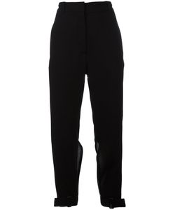 Ann Demeulemeester | Slit Cropped Trousers Womens Size 38 Virgin Wool/Cotton/Rayon