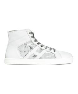 Hogan Rebel | Carry Hi-Tops Womens Size 36 Leather/Pvc/Rubber