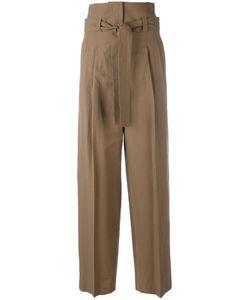Erika Cavallini | Pleat High-Rise Trousers Womens Size 40 Cotton/Virgin Wool