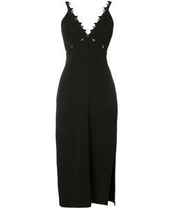 David Koma | Metal Embroide Dress Womens Size 12 Viscose/Spandex/Elastane/Acetate