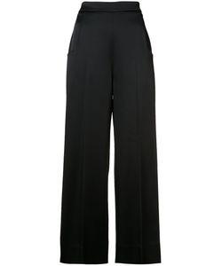 Roland Mouret | Wide-Legged Trousers Womens Size 40 Viscose/Acetate/Spandex/Elastane/Polyurethane
