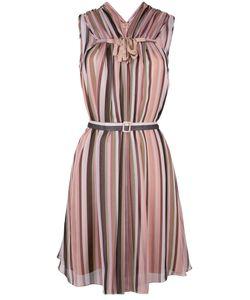 No21   Sleeveless Striped Dress Womens Size 42 Silk/Acetate