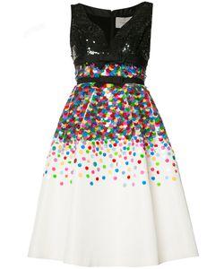 Carolina Herrera   Sequinned Fla Dress Womens Size 6 Silk/Sequin/Plastic