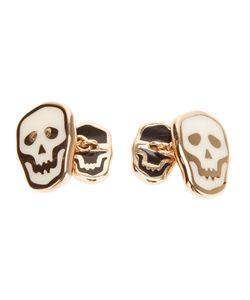 Gavello   18 Kt Gold Skull Cufflinks