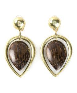 Vaubel | Wood Drop Leaf Earrings