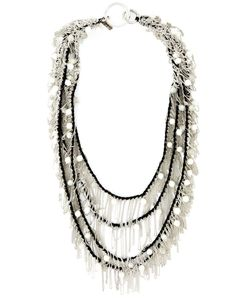 Goti | Draped Chain And Bead Necklace