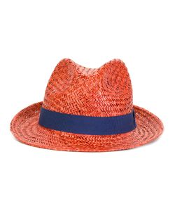 Hackett | Contrast Hat Mens Size Large Straw/Cotton