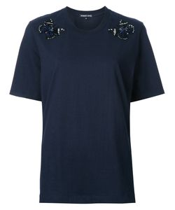 Markus Lupfer | Beaded Butterfly T-Shirt Womens Size Small Cotton