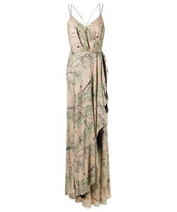 Emannuelle Junqueira   Long Printed Party Dress