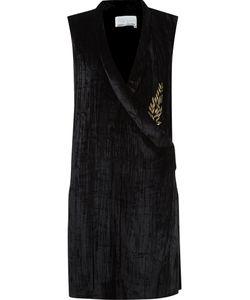 Emannuelle Junqueira   Velvet Sleeveless Dress