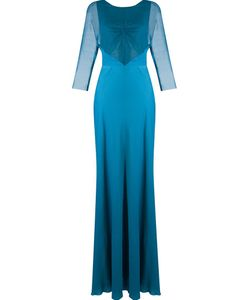 Emannuelle Junqueira   Sheer Panel Party Dress