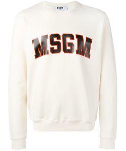 MSGM | Logo Print Sweatshirt Mens Size Xl Cotton