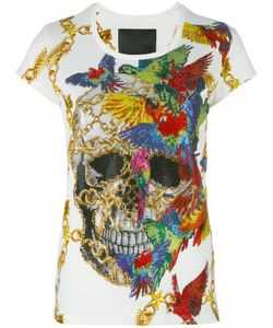 Philipp Plein | Skull Print T-Shirt Womens Size Medium Cotton