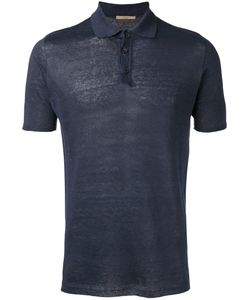 Nuur | Knitted Polo Shirt Mens Size 48 Linen/Flax